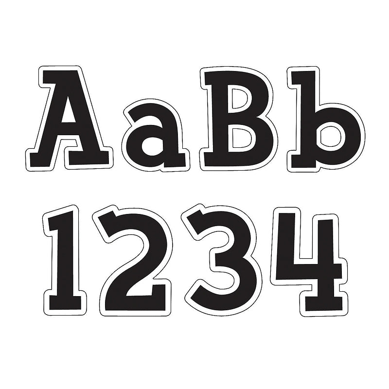 Fancy Black Bulletin Board Letters And Numbers