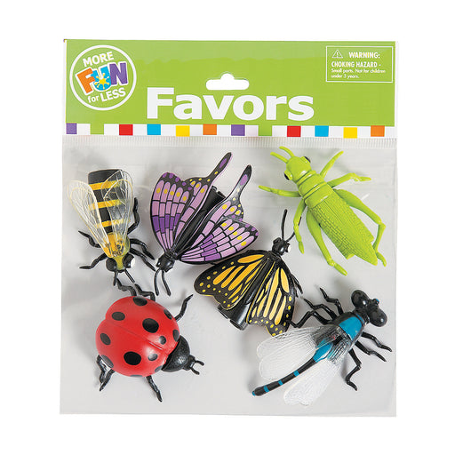 Pack of 6 Insect Finger Puppet