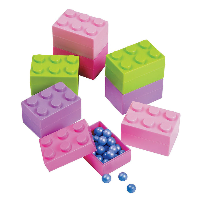 Pack of 24 Pastel Brick Containers