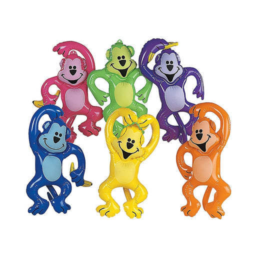 12 x Inflatable Neon Monkeys