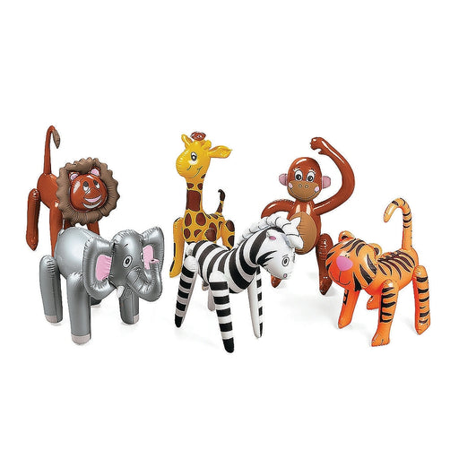 12 x Inflatable Zoo Animal Assortment