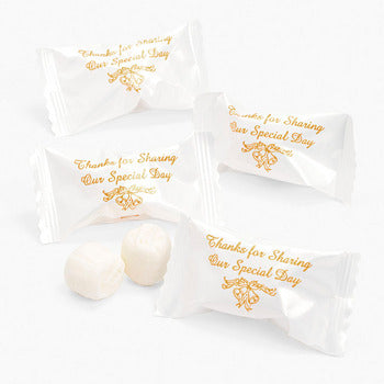 Thank You Message Butter mints Gold 120 Pieces