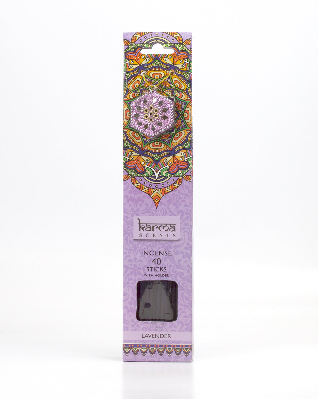 Lavender Karma Incence Sticks and Holder Pack of 40