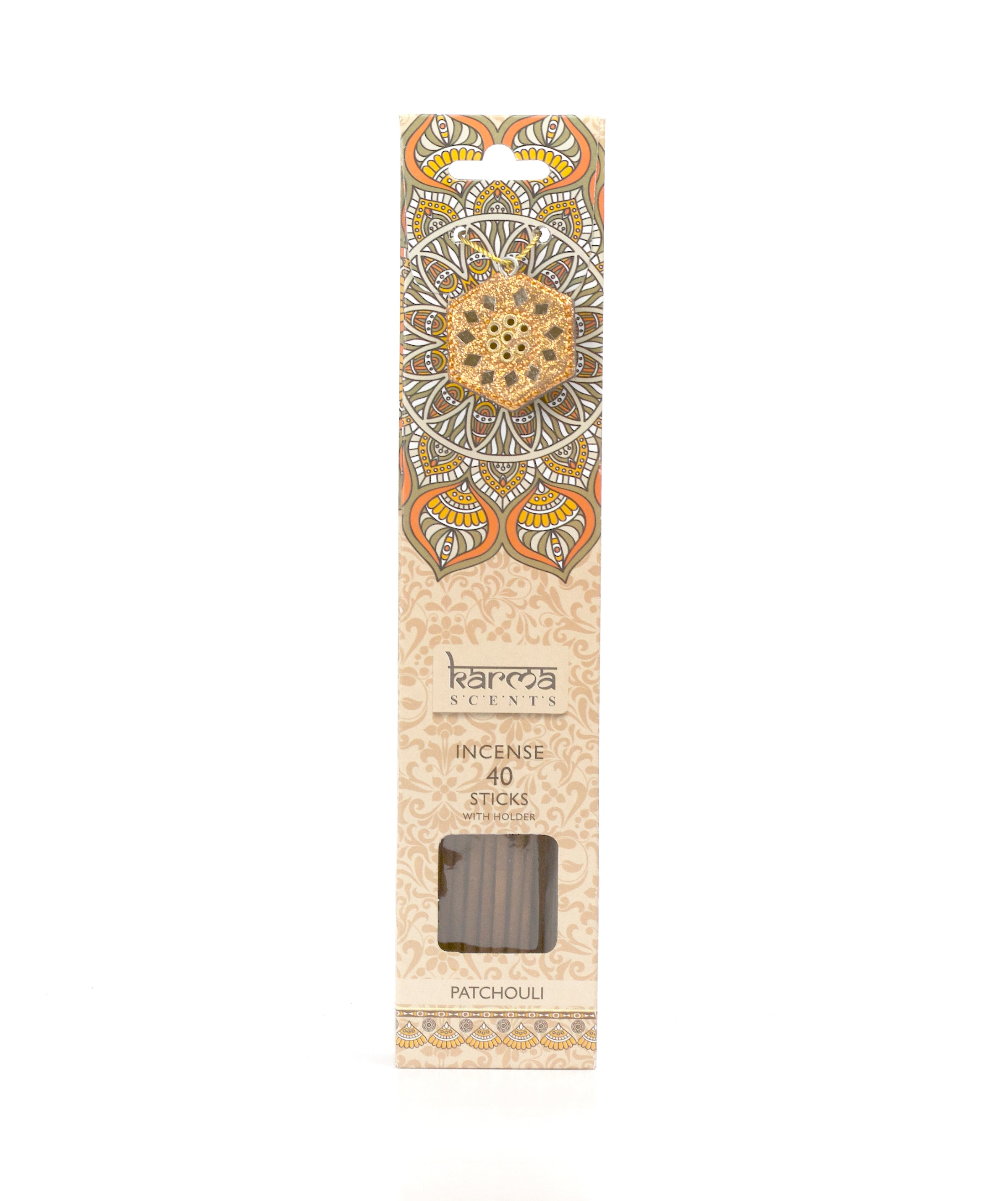 Patchouli Karma Incence Sticks and Holder Pack of 40