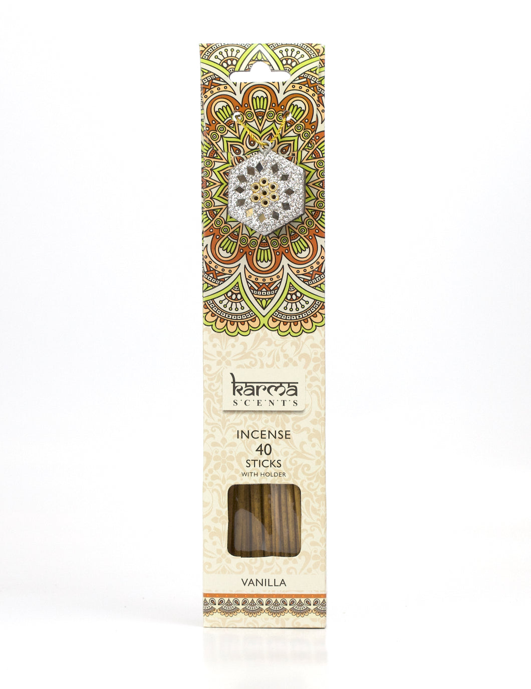 Vanilla Karma Incence Sticks and Holder Pack of 40