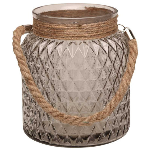 Large Candle Jar with Rope