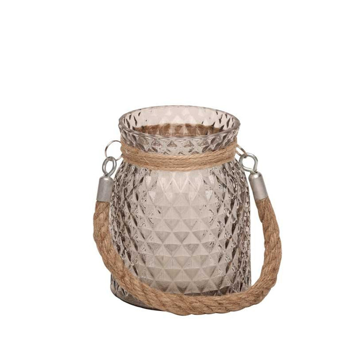 Small Candle Jar with Rope