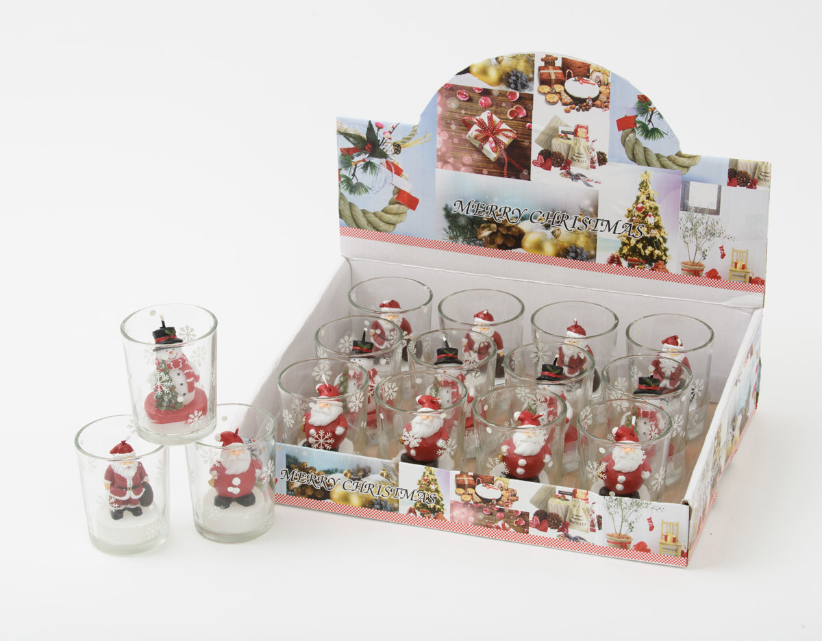 Christmas Votive Holders Assorted
