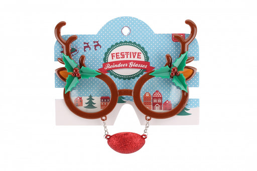 Novelty Reindeer Christmas Glasses