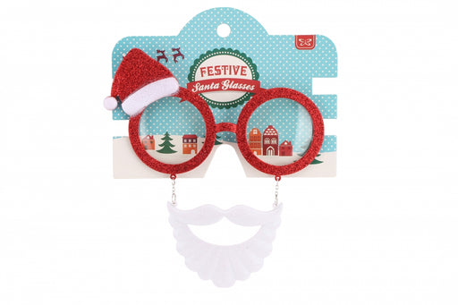 Santa Beard & Hat Novelty Christmas Glasses