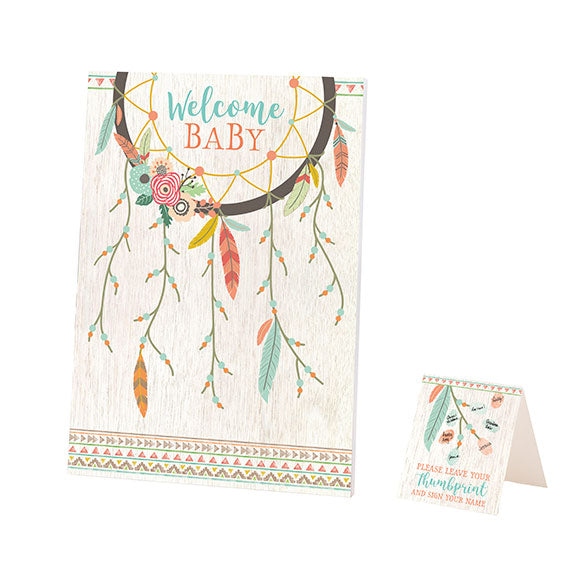 Lillian Rose Tribal Baby Shower Guest Signing Canvas