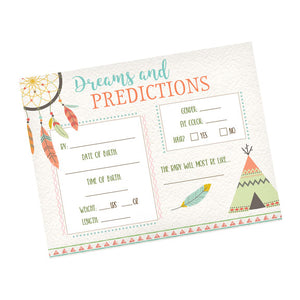 Lillian Rose Tribal Baby Shower Predictions Cards