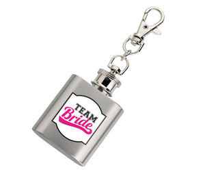 Mini Silver Flask Team Bride