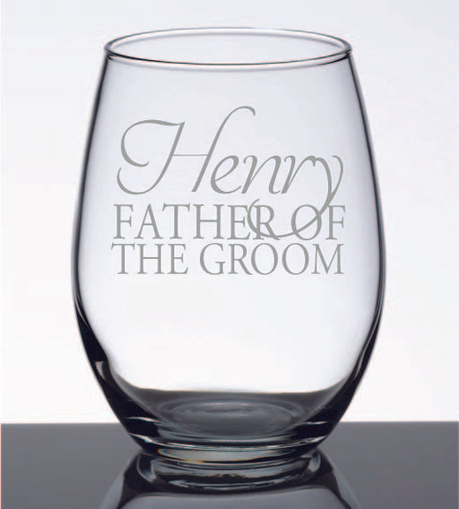 Personalised Single Stem less Wine Glass