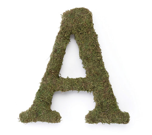 Large 15 Moss Monogram Letter A
