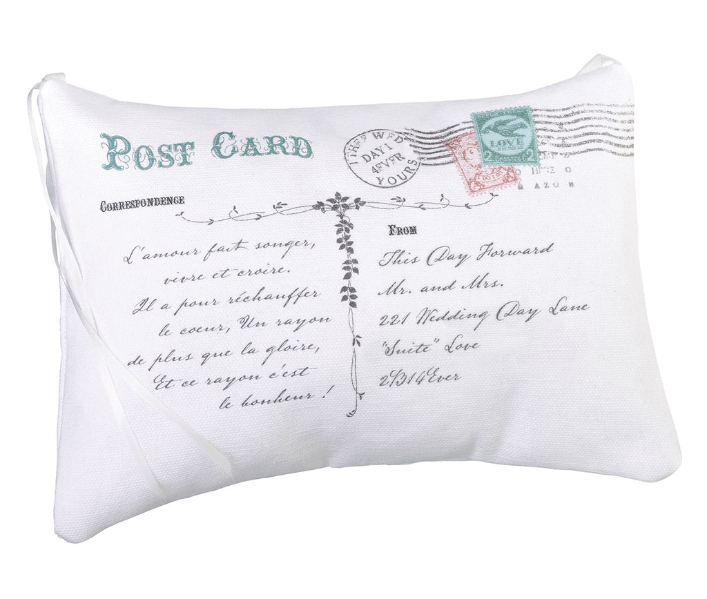 Lillian Rose Postcard Ring Bearer Pillow