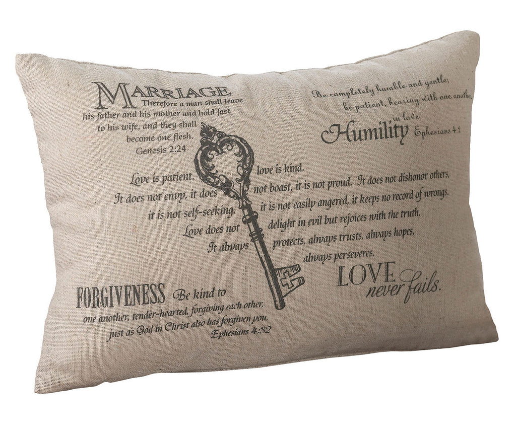 Lillian Rose Christian Key Ring Bearer Pillow