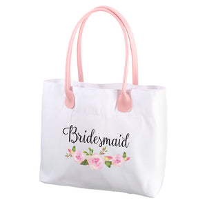 Lillian Rose Watercolor Floral Bridesmaid Tote Bag