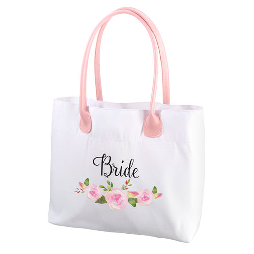 Lillian Rose Watercolor Floral Bride Tote Bag