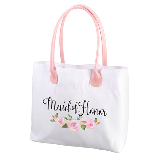 Lillian Rose Watercolor Floral Maid of Honor Tote Bag