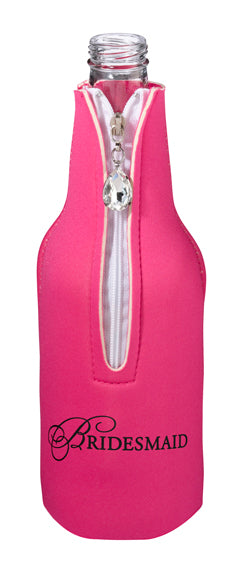 Bridesmaid Bottle Cozy Pink