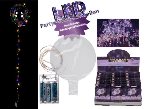 Multi Coloured LED Party Foil Balloon