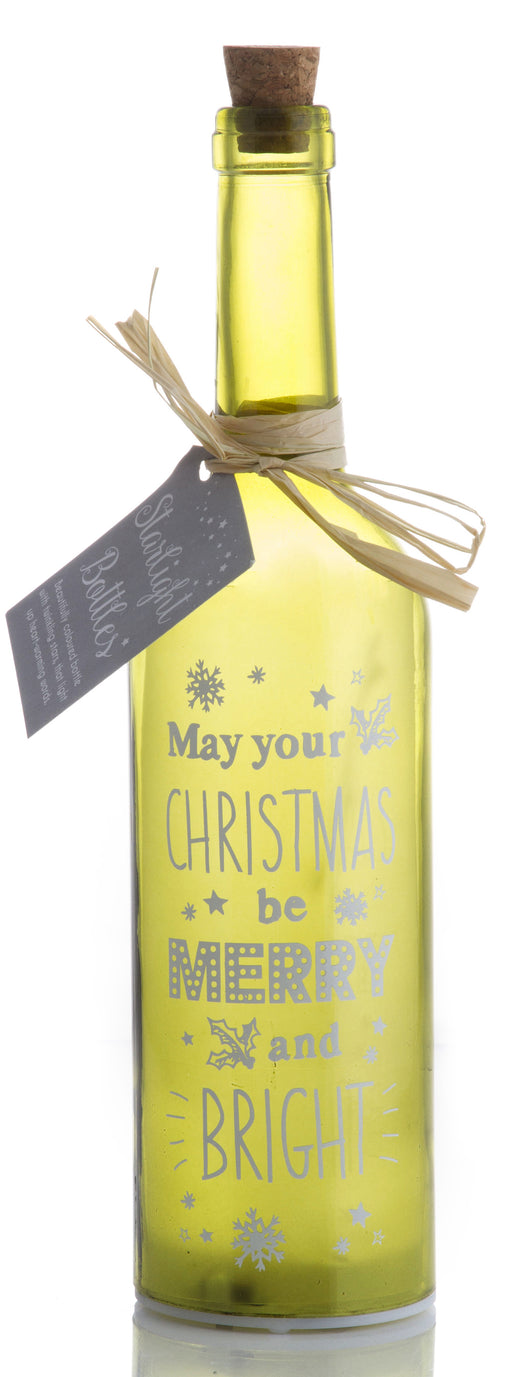 Merry And Bright Christmas Starlight Bottle