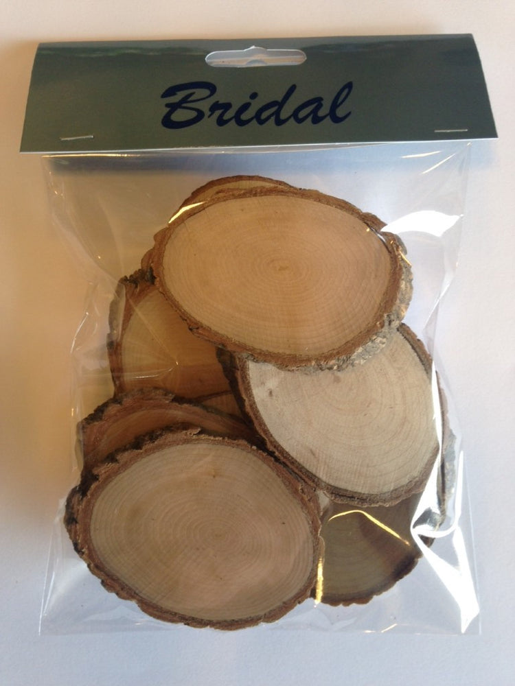 Pack of 10 Wooden Tree Trunk Pieces