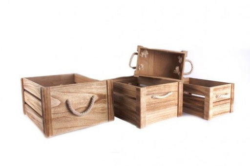Set of 4 Wooden Crates