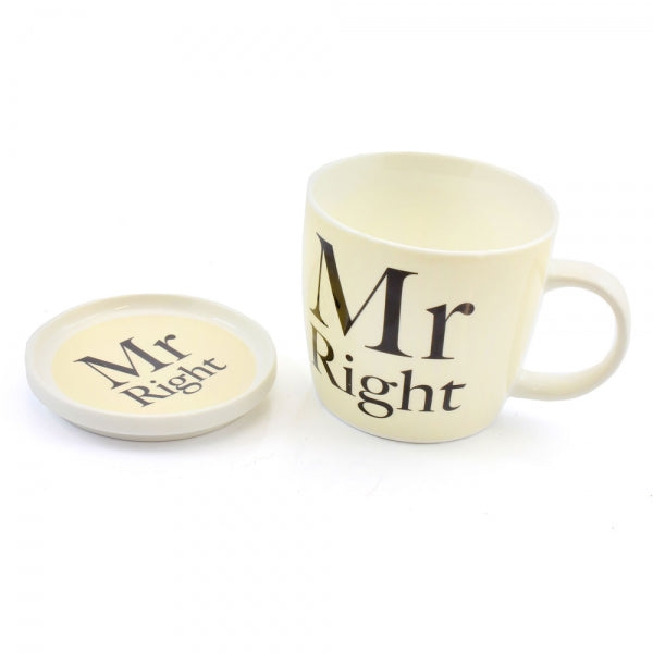 Mr. Right Mug And Coaster