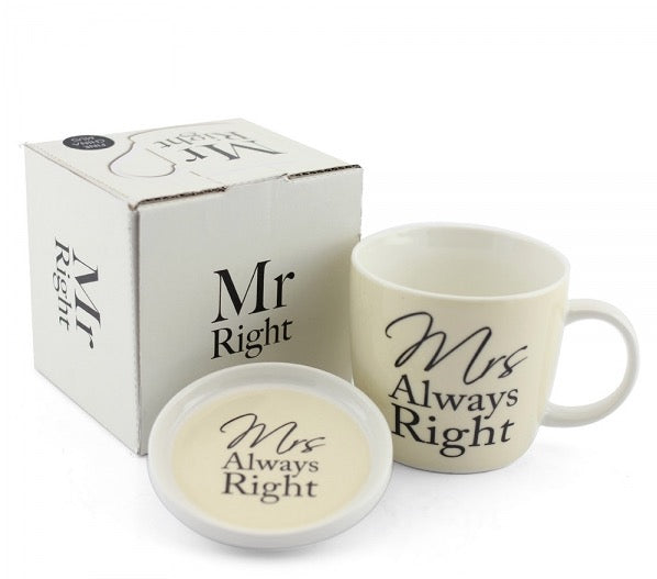 Mrs. Always Right Mug And Coaster Set