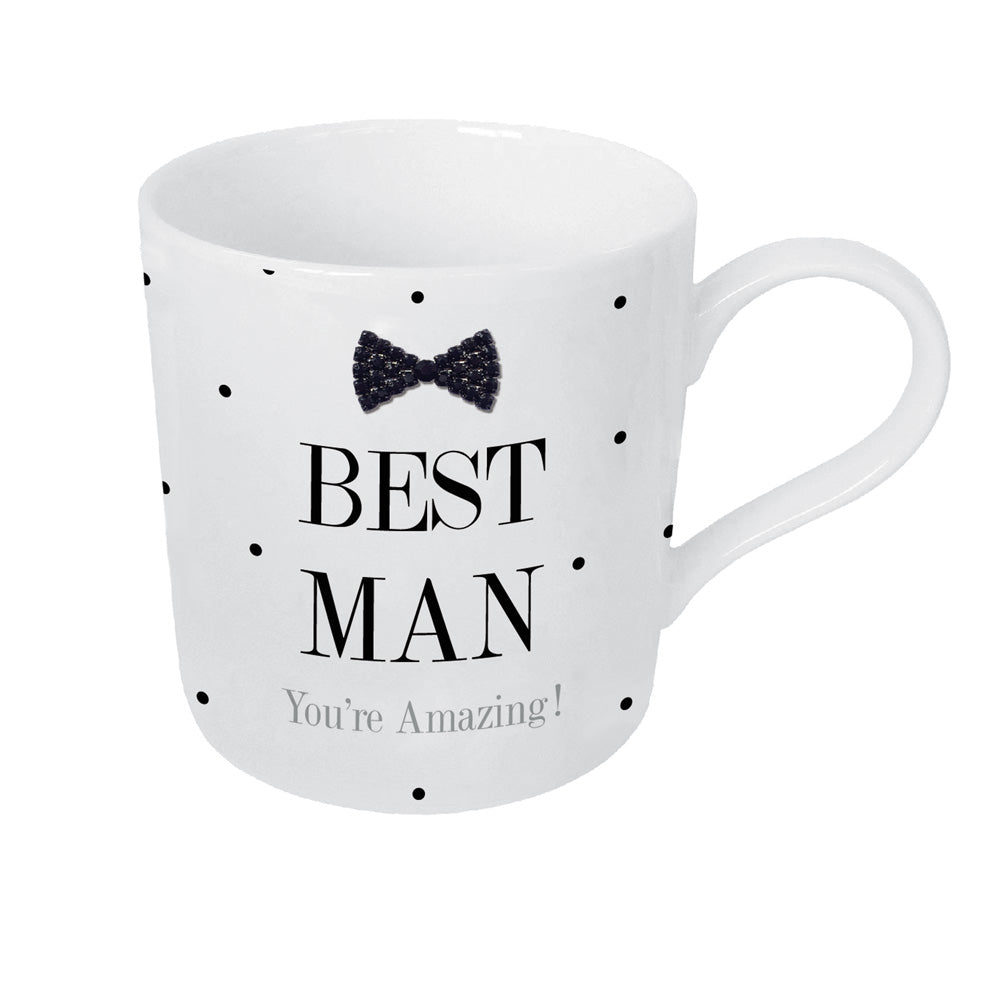 Mad Dots Black Tie Best Man Mug