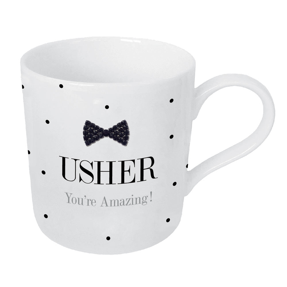 Mad Dots Black Tie Usher Mug