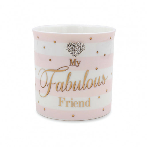 Mad Dots Fab Friend Candle - Pink And White Stripe With Gold Dot Design