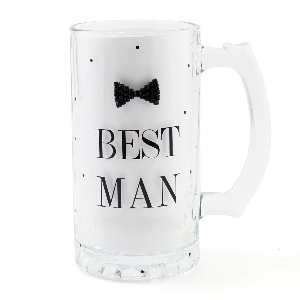 Mad Dots Black Tie Best Man Tankard