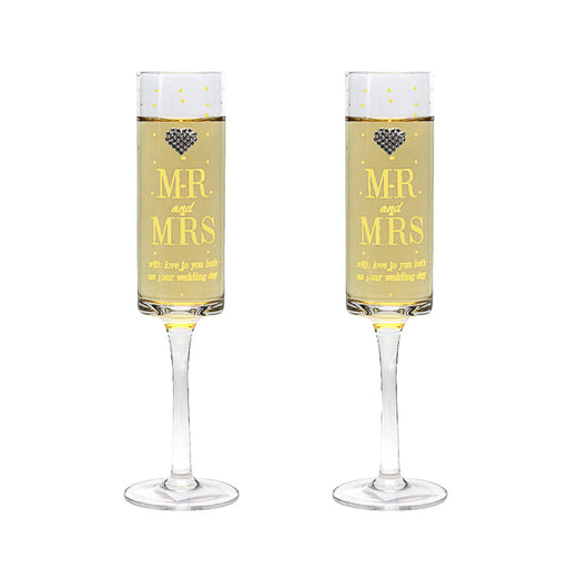 Mad Dots Mr and Mrs Flutes Set of 2
