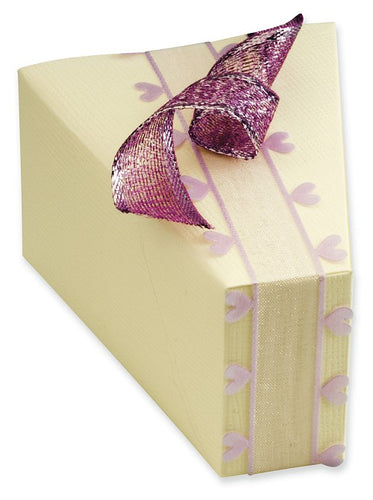 Ivory Silk Cake Slice Box