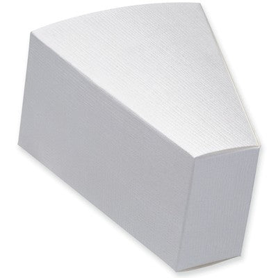 White Silk Cake Slice Box 90x73x50mm