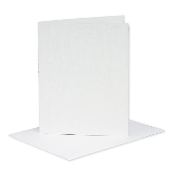 White Silk Card insert And Envelope 12x20cm