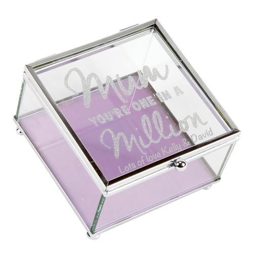 Personalised Lasting Memories' Glass Trinket Box Mum In A Million