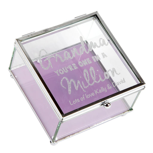 Personalised Lasting Memories' Glass Trinket Box Grandma In A Million