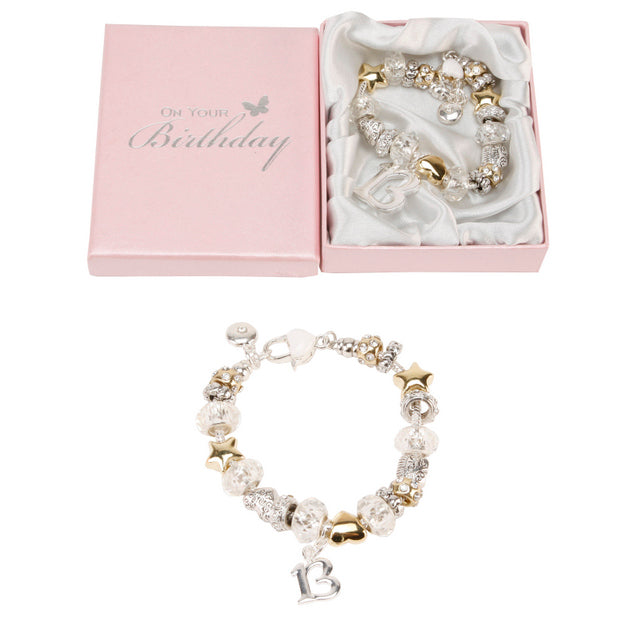 Birthdays By Juliana Silver And Gold Bead Bracelet 13