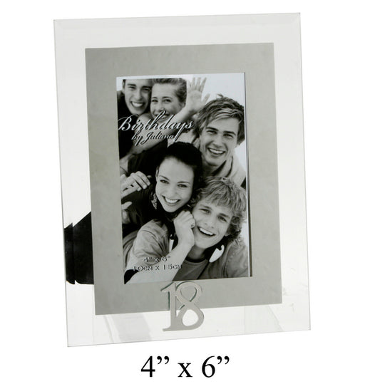 Birthdays By Juliana Glass And Mirror Frame 4x6 18th