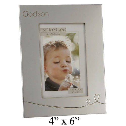 Juliana 2 Tone Silver Frame With Heart Design God Son