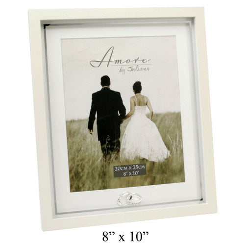 Amore MDF Frame With Crystal Rings Plain 8x10
