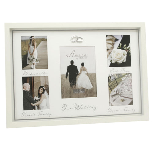 Amore MDF Multi Aperture Photo Frame Bridesmaids, Best Man. .