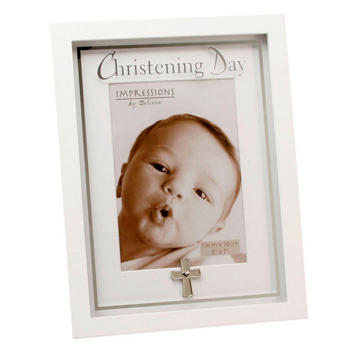 Juliana MDF Frame Mirror Print And Cross Icon Christening