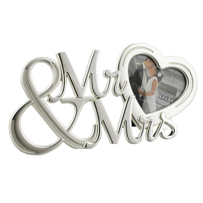 Juliana 2 Tone Silver Plated Frame Mr. And Mrs. With Heart