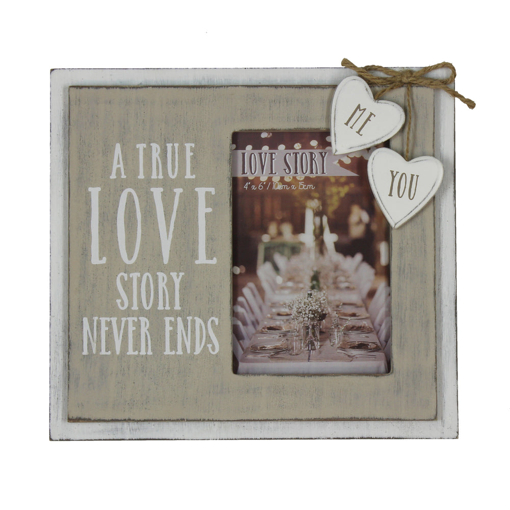Love Story Wooden Frame True Love Story 4x6