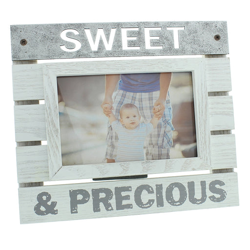 New View Wooden Panel Photo Frame 6x4 Sweet And Precious